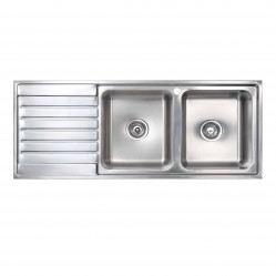 Seima Kubic double bowl sink left hand drainer