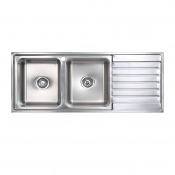 Seima Kubic double bowl sink right hand drainer