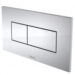 Caroma Invisi Series Rectangular Dual Flush Plate & Buttons Chrome