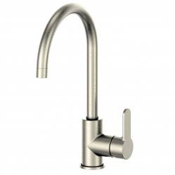 GREENS ASTRO GOOSENECK SINK MIXER BRUSHED NICKEL