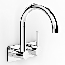 Faucet Pegasi M M Back Plate Basin Mixer Swivel 200