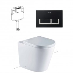Seima modia BTW FLOOR PAN WITH 400 SERIES flush plate & in-wall CISTERN