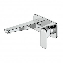 GREENS CURB WALL BASIN MIXER WITH PLATE CHROME