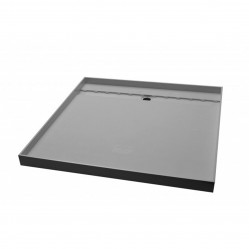 AKRIL GREY TILE TRAY REAR GRATE  900 X 900