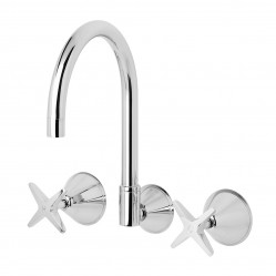 Phoenix Ivy Wall Sink Set Chrome