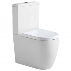 Argent Grace BTW Toilet Suite with Soft Closing Seat - S Trap, Rear entry