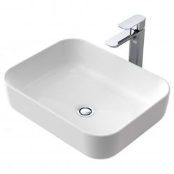 Caroma Artisan  Above Counter Basin Rectangle 490mm