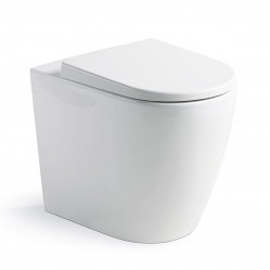 Argent Grace Wall Faced Toilet with Soft Closing Seat
