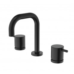 Caroma Luna Lever Basin Set Black