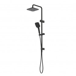 Caroma Luna Multifunction Rail Shower with Overhead Black