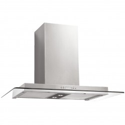 Baumatic Flat Glass Canopy Rangehood 90cm