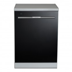 Baumatic Dishwasher Freestanding Black Glass 60cm