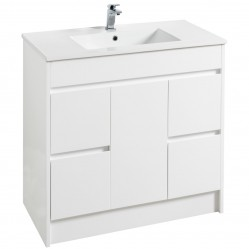 Floor Standing Vanity White with Kiba Top 900