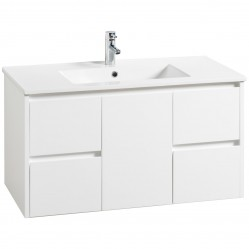 Wall Hung Vanity White with Kiba Top 900