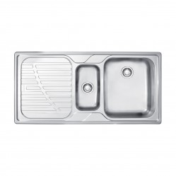 Franke Drina 1 & 1/4 Bowl Inset Sink with Left Hand Drainer
