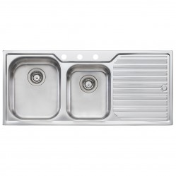1 & 3/4 Left Hand Bowl Sink with Drainer 3 Taphole