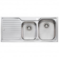 1 & 3/4 Right Hand Bowl Sink with Drainer 1 Taphole