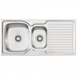 1 & 1/2 Left Hand Bowl Sink with Drainer 1 Taphole
