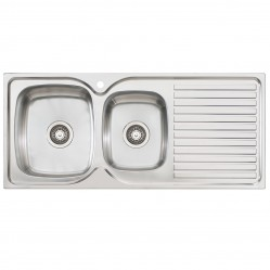 1 & 3/4 Left Hand Bowl Sink with Drainer 1 Taphole