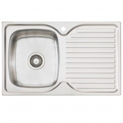 Single Left Hand Bowl Sink with Drainer 1 Taphole