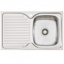 Single Right Hand Bowl Sink with Drainer 1 Taphole