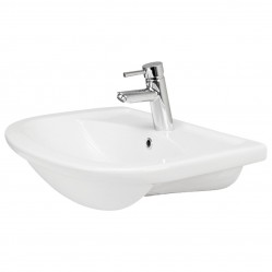 Argent Azure Semi Recessed Basin 1TH