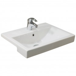Argent Zen  Semi Recessed Basin 1TH
