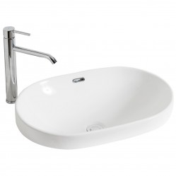 BOURNE MINT CERAMIC BASIN ABOVE COUNTER
