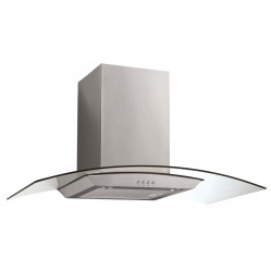 Baumatic Curved Glass Canopy Rangehood 90cm