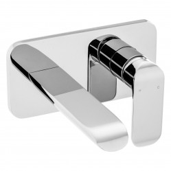 Ikon Kara Wall Basin Mixer Chrome