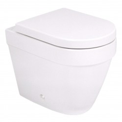 Argent Evo  Wall Faced Toilet with Soft Closing Seat - S Trap