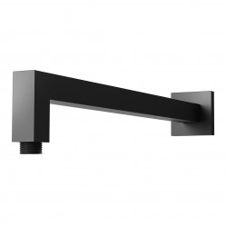 Phoenix Lexi Square Shower Arm 400mm Matte Black