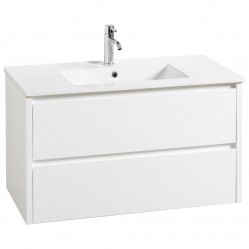 Frederic Lecco Wall Hung Vanity White with Kiba Top 900