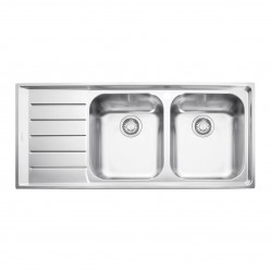 Franke Neptune Double Bowl Inset Sink with Left Hand Drainer