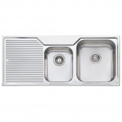 1 & 3/4 Right Hand Bowl Sink with Drainer