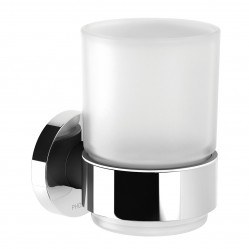 Phoenix Radii Tumbler and Holder Round Plate Chrome