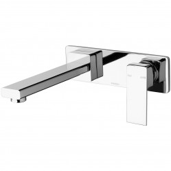 Phoenix Radii Wall Basin Mixer Set 180mm Chrome