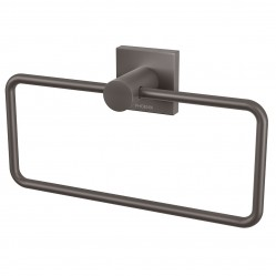 Phoenix Radii Hand Towel Holder Square Plate Gunmetal