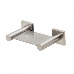 Phoenix Radii Soap Dish Square Plate Brushed Nickel