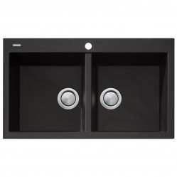Oliveri Santorini Double Bowl Sink Black