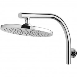 Phoenix Vivid Curved Shower Arm and Round Shower Rose 230mm Chrome