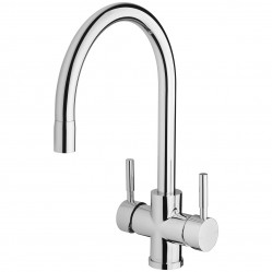 Phoenix Vivid Filtered Gooseneck Sink Mixer 220mm Chrome with filters