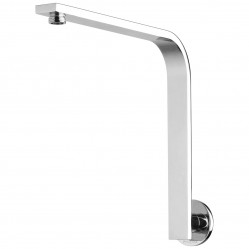 Phoenix Vivid Slimline High-rise Shower Arm Round Plate Chrome