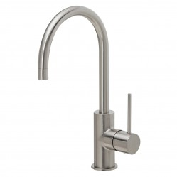 Phoenix Vivid Slimline Gooseneck Sink Mixer 160mm Brushed Nickel