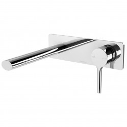Phoenix Vivid Slimline Oval Wall Bath Mixer Set 175mm Chrome