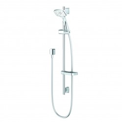 Methven Waipori Satinjet Rail Shower Chrome with White Faceplate