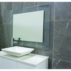 Ablaze Contractor 750x900mm Clear Float Glass Mirror with Demister