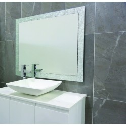 ablaze Contractor 900x750mm Silver Float Mirror with Hangers