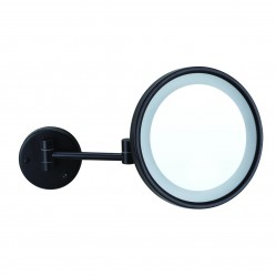 ablaze 3x Magnification Matt Black Wall Mounted Shaving Mirror