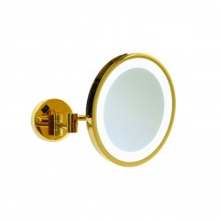 ablaze 3x Magnification Gold Wall Mounted Shaving Mirror